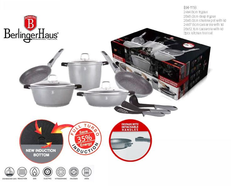 GARNKI BERLINGER HAUS GRANIT DIAMOND GRAY 11 ELE BH-1118