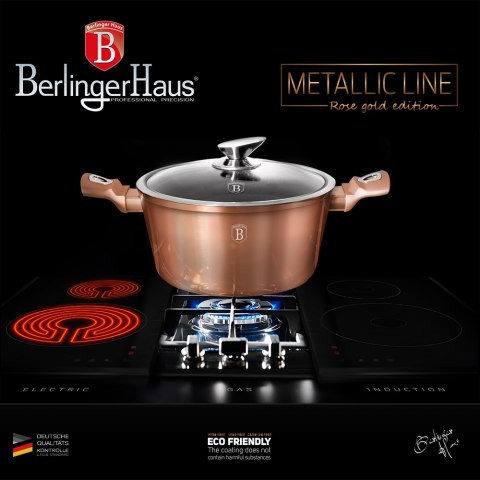 GARNEK 6.5L 28CM BERLINGER HAUS METALLIC ROSE GOLDBH-1516-N
