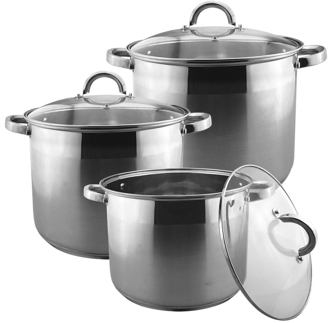 GARNKI STOCK POT 6 ELE 12L/10L/7L BRUNBESTE BB-2144