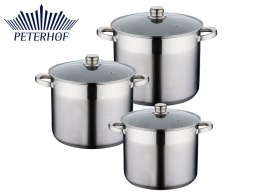 GARNKI 6 ELE STOCK POT PETERHOF ALDEN 12L / 9.5L / 7.5L PH-15199